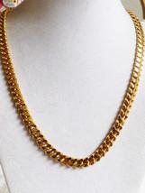 VTG DESIGNER FASHION MONET GOLD TONE CURB LINK ... - $38.61