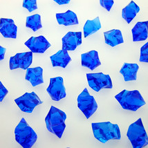 1000 Tiny BLUE Acrylic Scatter Crystal Nuggets Ice Confetti Wedding Vase Filler - $19.98