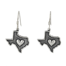 Sterling Silver I Heart Texas Earrings - $37.36