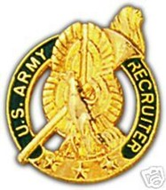 Army Recruiter Military  Lapel Hat Pin - $13.53