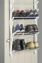 Home Organization Shoe Organizer Whitmor OverTheDoor Rack 36Pair White 3... - $33.19