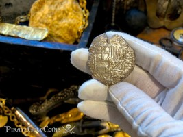ATOCHA SHIPWRECK BOLIVIA 8 REALES ND PHILIP III PIRATE GOLD COINS TREASURE  - $999.00