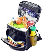 Large Insulated Lunch Bag Double-Sewn Nylon Zipper Closures Picnic Home ... - $33.79