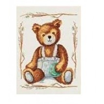 Cross stitch kit Lanarte 15590 Boy bear .Razmer 24/32 cm. - $17.00