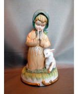 Lefton China Figurine: Praying Girl with Lamb Beside Her GG5600 - $6.99
