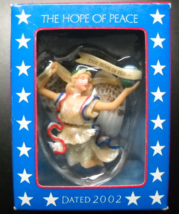 American Greeting Cards Christmas Ornament 2002 The Hope of Peace Angel Boxed - $8.99