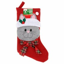 Christmas Pet Stocking, 18 in. Cat w - $5.99
