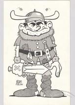 "Gary Fields Barbarian Sword Sorcery Original Cartoon Art 7x11"" Comic Dra... - $29.02"