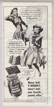 Borden Instant Coffee '40s Elsie the Cow Advert... - $14.50