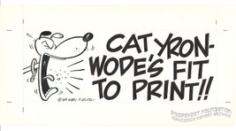 Gary Fields Original Art Dog Shouting Fit to Print Cartoon Logo Furry Co... - $18.37