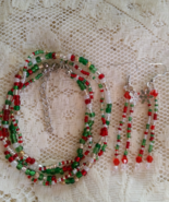 Colors of Christmas Bracelet and Earring Set Ha... - $10.00