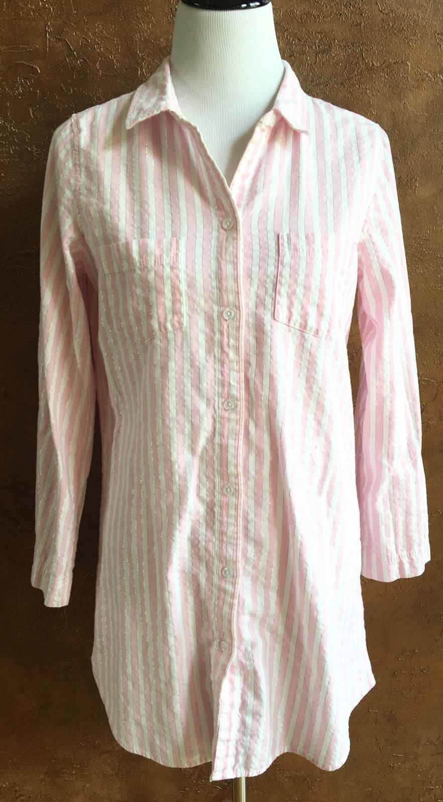 c7c94d7662ecb Victoria's Secret - Pink White Striped Sleep and 26 similar items