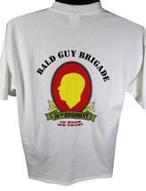 BALD GUY BRIGADE Lompoc Craft Beer T-SHIRT X-Large XL Short Sleeve CA Br... - $17.75