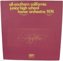 ALL-SOUTHERN CA JUNIOR HIGH SCHOOL Honor Orchestra 1974 LP Record Privat... - $9.50