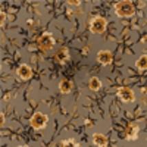 Longaberger Large Desktop Basket Liner ~ Khaki Floral Fabric - $12.68