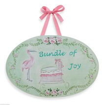 NEW WALL PLAQUE Kids Room BUNDLE OF JOY Stork B... - $12.64