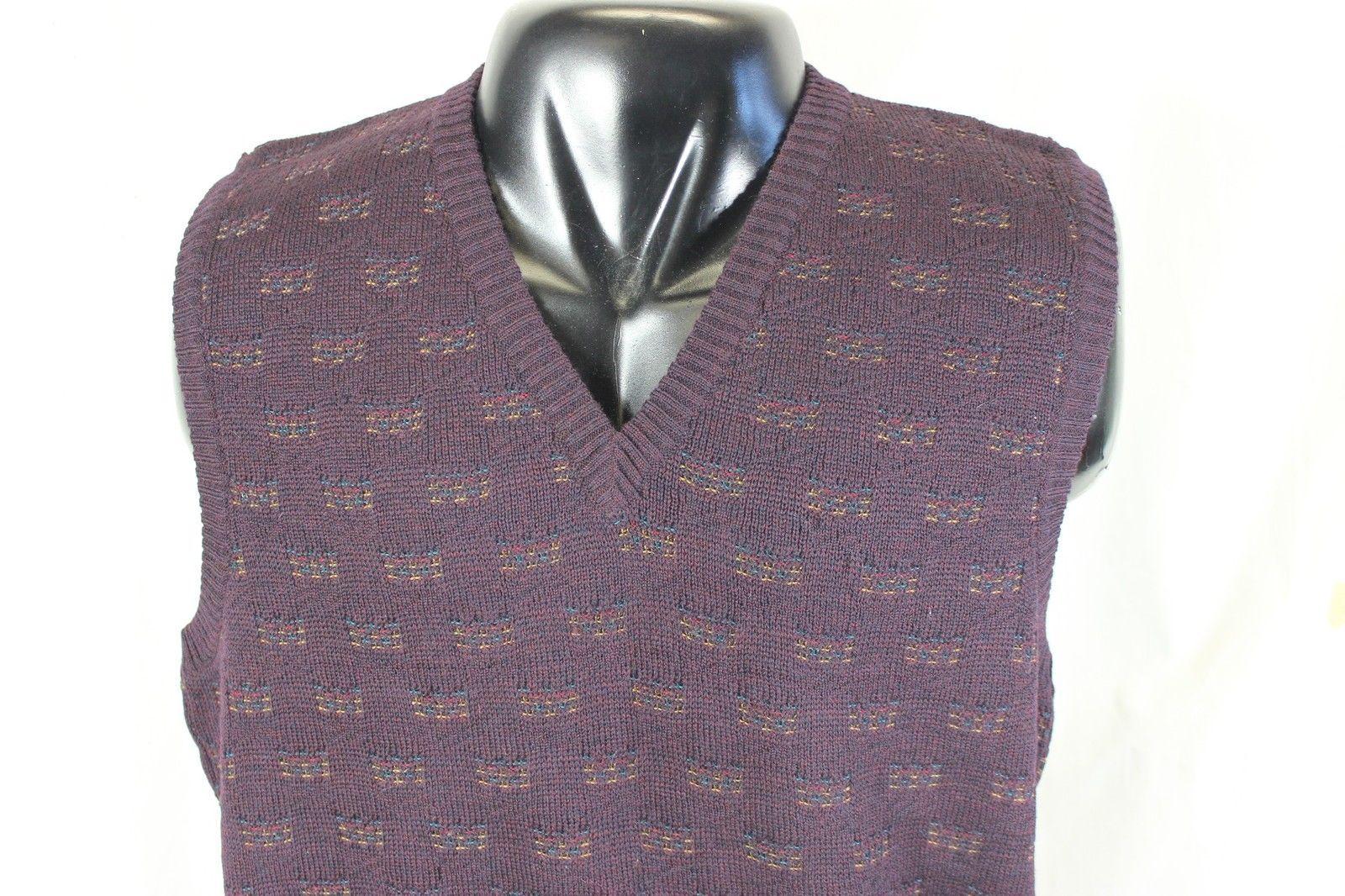 Vtg 90s Nordstrom V Neck Sweater Vest Xl and 14 similar items