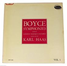 BOYCE Symphonies Vol. 1 KARL HAAS London Baroque LP 50s Westminster XWN ... - $15.88