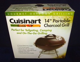 """Brand New!•Unopened•Sealed Box•Cluisinart•14"""" Portable Charcoal Grill•Br... - £19.26 GBP"""
