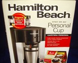 New in Box!•Hamilton Beach•Stay or Go•Personal Cup Pod Coffeemaker•49993•Sealed!