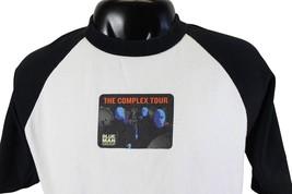 BLUE MAN GROUP Complex Tour T-SHIRT Large L 3/4 Sleeve Raglan Baseball T... - $15.88