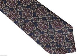 New Surrey Designer Neck Tie 100% Silk Geometric Medallion Made In Usa! Nwot - $6.91