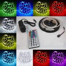 RGB 5M 3528 LED Strip Light 300LEDs + 44key Remote Controller + 12V Powe... - $15.99