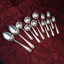 RARE - National Silver SEB THREE / Monroe INS139 - 12 Silverplate Spoons... - $75.00