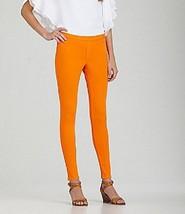 Hue Denim Leggings Sz M Firefly Orange Cotton B... - $19.71