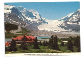 Canada Icefield Chalet Athabasca Glacier Jasper National Park 4X6 Postcard - $4.99