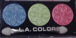 L.A. Colors Powder Eyeshadow 3 Intense Shades Lotus & Applicator Brush - $6.88