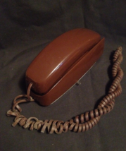 Vintage Trim-Line Touch-Tone Telephone - Brown - $14.00