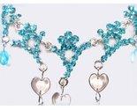 Necklace set aqua hearts sparkle close thumb155 crop
