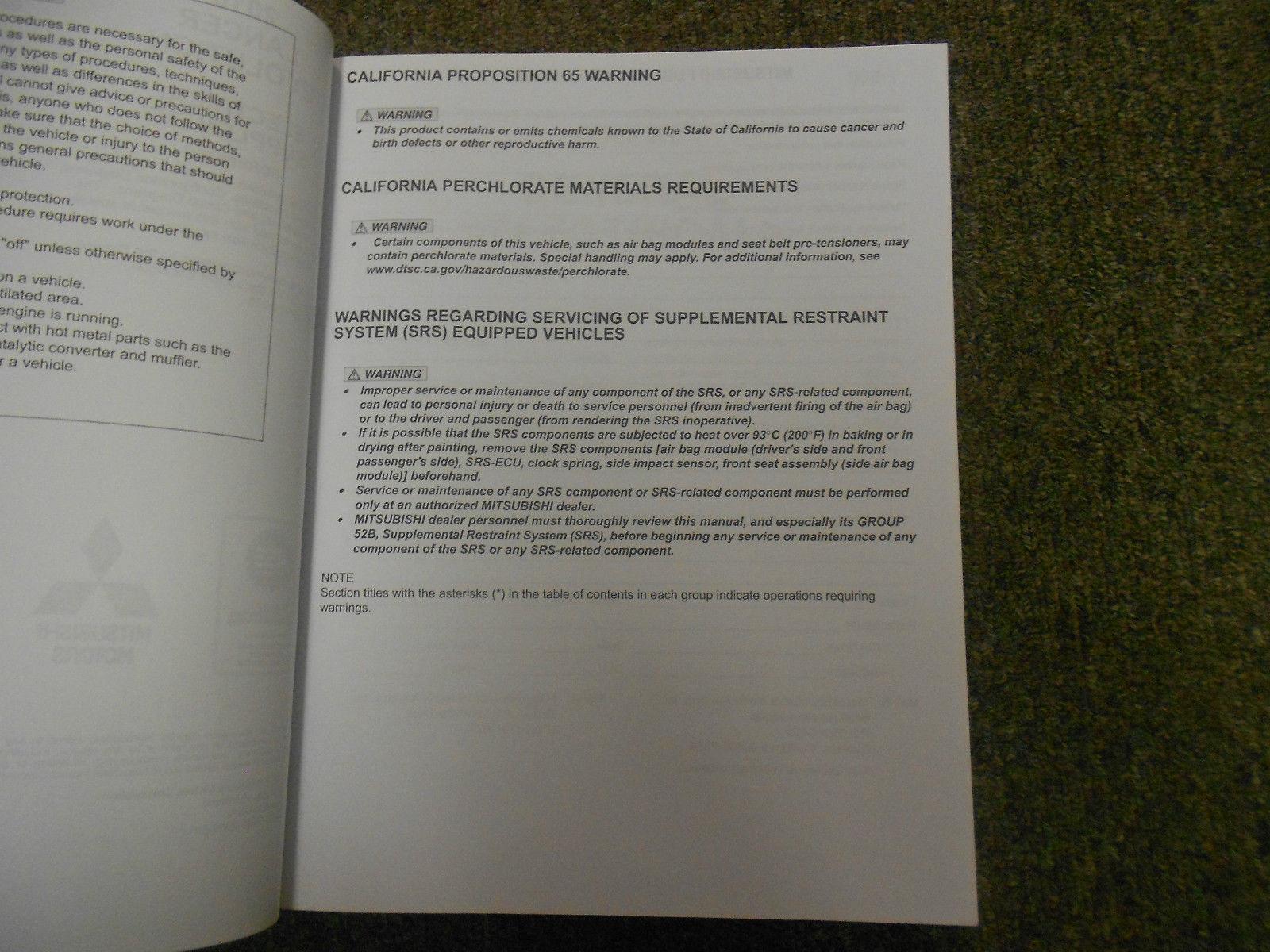 2010 MITSUBISHI Lancer Evolution Electrical Supplement Service Repair Manual OEM