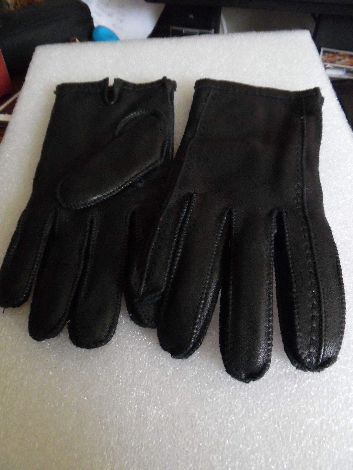 Etienne aigner black leather gloves - Sale Etienne Aigner 100 Leather Gloves Sz Large 18 50