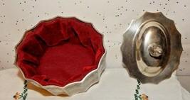 VINTAGE SILVER PLATE FLORAL DRESSER~JEWELRY TRINKET BOX & VANITY~GODINGE... - $24.70