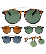 SA106 Detachable Clip On Round Circle Lens Retro Keyhole Glasses Sunglasses - $9.95