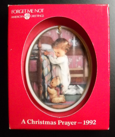 American greetings cards christmas ornament and similar items american greetings cards christmas ornament 1992 a christmas prayer boxed m4hsunfo Image collections
