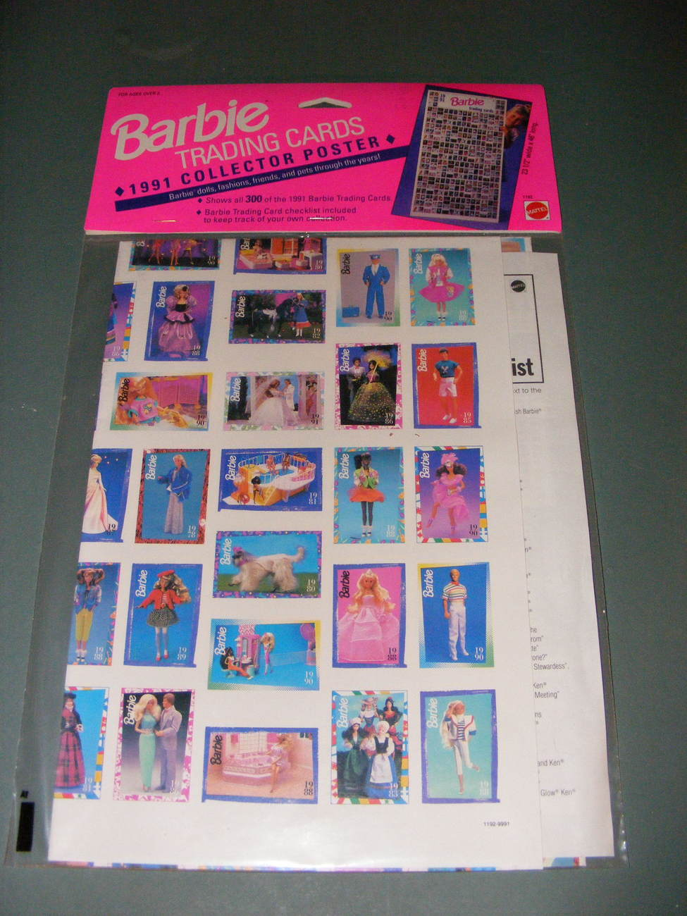 Primary image for 1991 Barbie Trading Card Collector Poster
