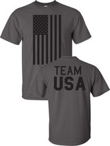Team USA American Flag Olympics 2014 Front Back 6 COLORS Men's Tee Shirt... - $9.85+
