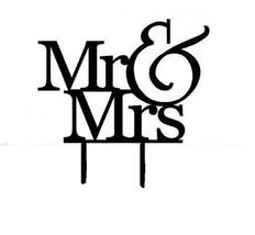 Black plastic acrylic Silhouette  Mr & Mrs monogram - $12.42