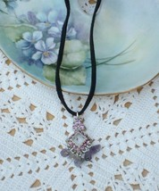 Cookie Lee Amethyst & Crystal Necklace - Item #89083 - New! - $10.00