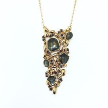 """NWT! $250 ALEXIS BITTAR """"Gold Nugget"""" Doublet Long Necklace Chain Pendant - $165.00"""