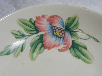 vintage UNIVERSAL POTTERIES Co. china BALLARINA Floral Pattern Lugged BOWL Dish