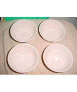 CORELLE SANDSTONE BEIGE 12 OUNCE RICE BOWLS X4 NEW WITH LABEL FREE USA SHIP - $37.39