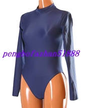 Lycra Spandex Zentai Dark Blue Sexy Short Body Suit Catsuit Costumes Unisex S059 - $32.99