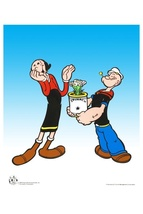Popeye Spinach- L/E Sericel by King Features Syndicate - $275.00