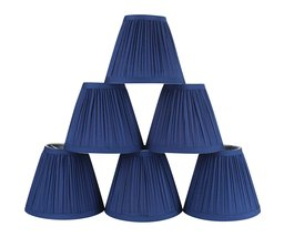 Urbanest Set of 6 Mushroom Pleated Chandelier Lamp Shade, 3-inch by 5-in... - $33.65