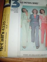 McCall's Misses Size 10-14 Jacket & Pants Pattern # 4335  - $5.99