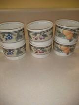 Mikasa Intaglio Garden Harvest Fruit 8oz Coffee Tea Cups Set of 6 - $17.59